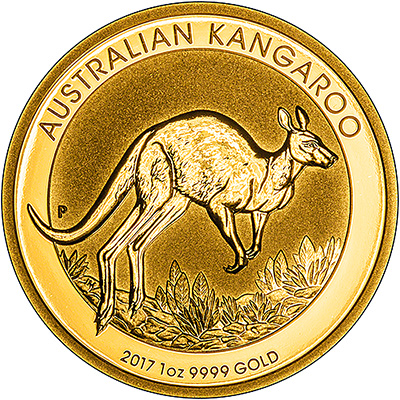 2017 One Ounce Gold Nugget Kangaroo Reverse