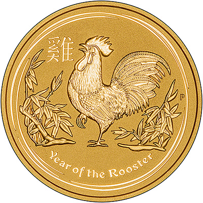 2017 Australian Year of the Rooster One Ounce Reverse