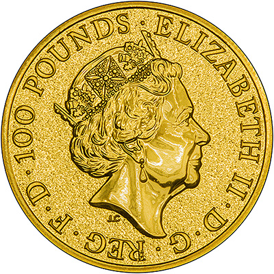 2017 One Ounce Gold Queen's Beasts Griffin Obverse