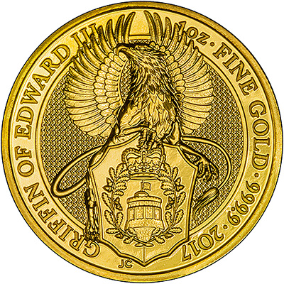 2017 One Ounce Gold Queen's Beasts Griffin Reverse