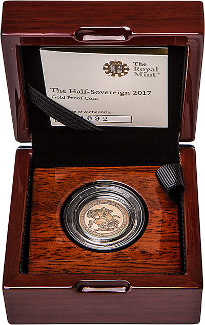 2017 proof half sovereign in presentation box