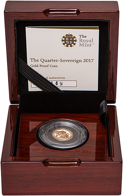 2017 proof quarter sovereign in presentation box