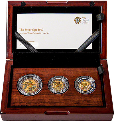 2017 proof sovereign 3 coin set in Presentation Box