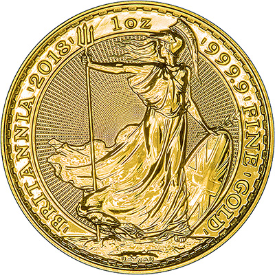 2018 One Ounce Gold Britannia