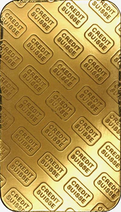 50 Gram Credit Suisse Gold Bar