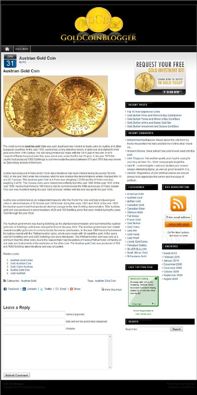 Gold Coin Blogger Sell Your Gold Coins Page