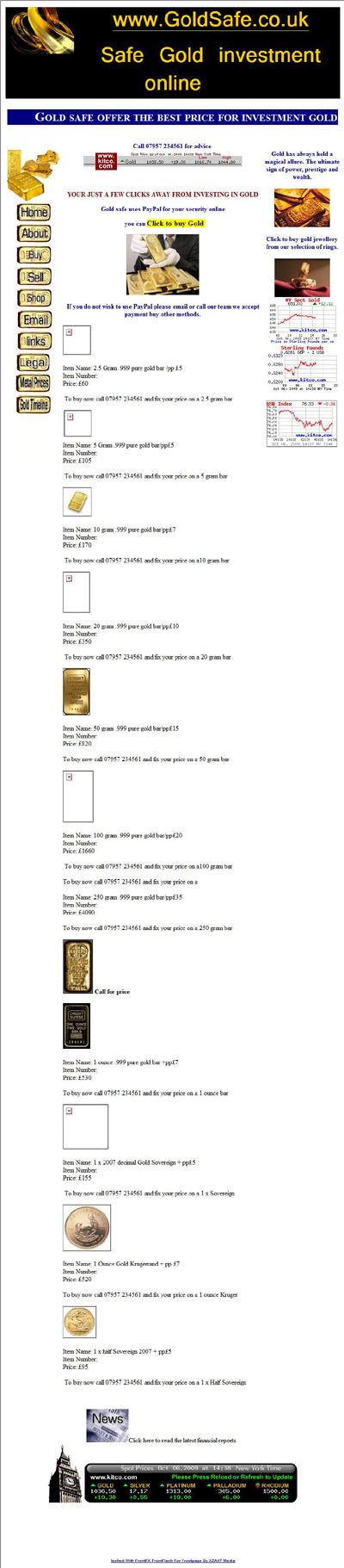 Gold Safe's Gold Sovereigns Half Sovereigns Page