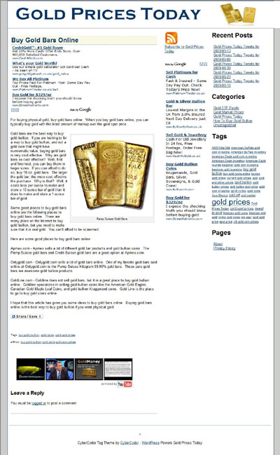 Gold Prices Today Goldpricestodaylive Com Frederick Peters