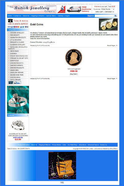 The British Jewellery Company's Gold Coins Page
