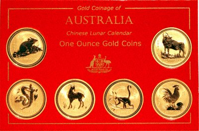 Australian One Ounce Lunar Gold Coin Set