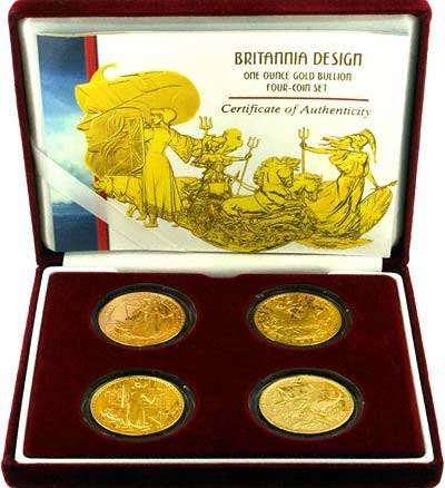 Type Set of One Ounce Gold Britannias