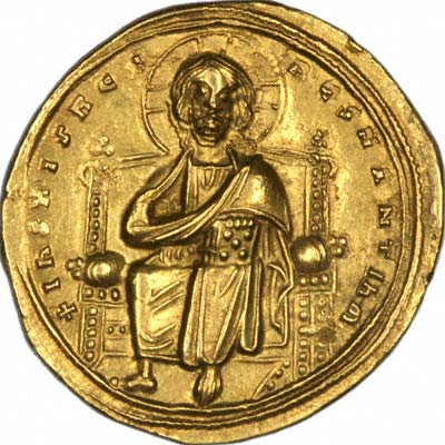 Obverse of Byzantine Gold Solidus