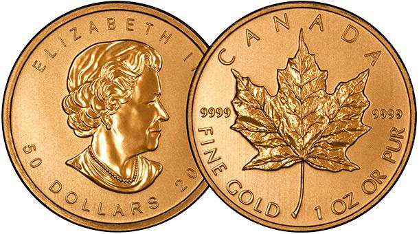 Canadian One Ounce Gold Maple Overlay