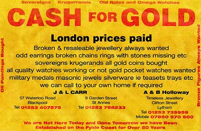 Cash for Gold - London Prices Paid
