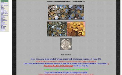 CarrConnection eBay Listing# 90225153667 1 Pound Foreign Coins 5 BIG Silver + 1 Gold GUARANTEED