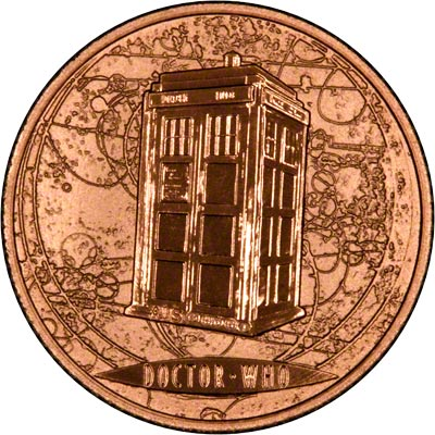 Obverse of Dr. Who Gold Medallion