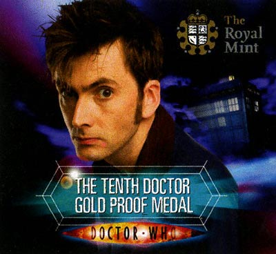 Dr. Who Gold Medallion Certificate