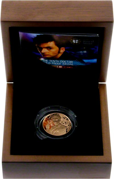 Dr. Who Gold Medallion in Presentation Box