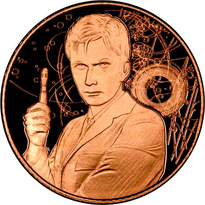Reverse of Dr. Who Gold Medallion