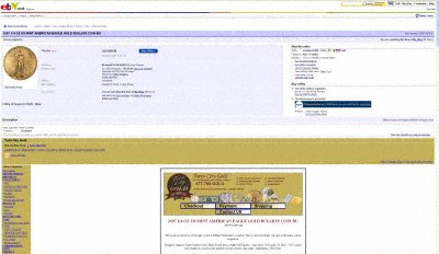 EstateJewelry66 Twin City Gold's eBay Listing using  Our 2007 US Gold Eagle Image