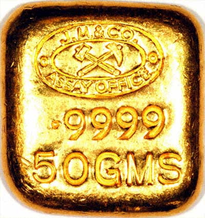 0.9999 Fine Gold Bar by Johnson Matthey