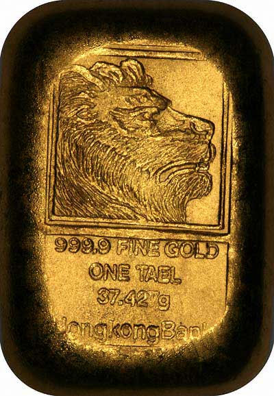 Gold Hong Kong Bank Tael Bar