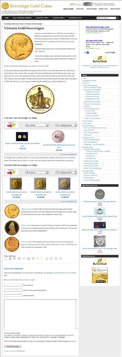 Sovereign Gold Coins Victoria Gold Sovereigns Page