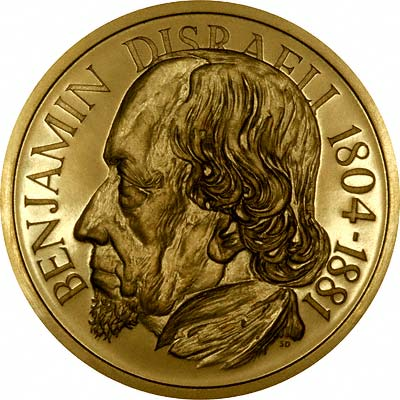 Benjamin Disraeli on Obverse of 1966 British Prime Ministers Gold Medal