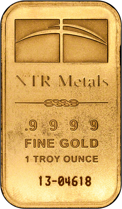 Obverse of One Ounce Gold Bar