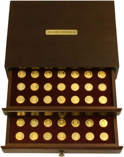 Our Royal Sovereigns 70 Medallions Collection in Box