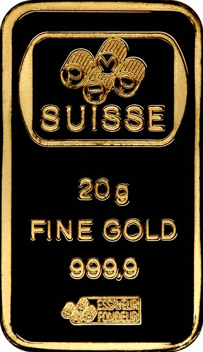 Reverse of 20g Gold Bar
