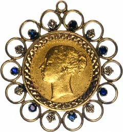 Second Hand Sovereign Coin Pendants For Sale