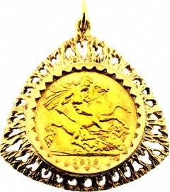Second hand sovereign coin pendants for sale triangular half sovereign pendant aloadofball Images