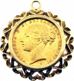 Second hand sovereign coin pendants for sale heart design sovereign pendant aloadofball Images
