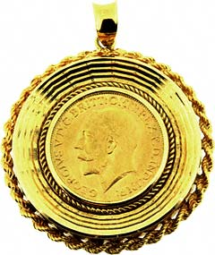 Second hand sovereign coin pendants for sale 1912 sovereign pendant aloadofball Image collections