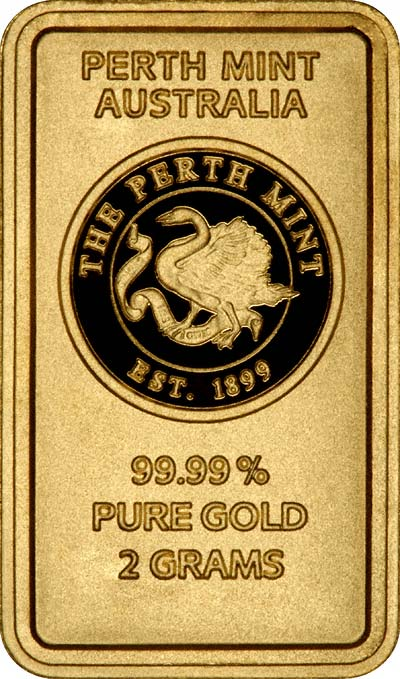 Obverse of 2g Gold Bar