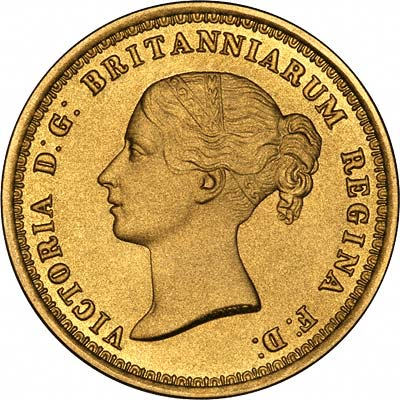 Obverse of Replica Una & the Lion Gold Five Pounds