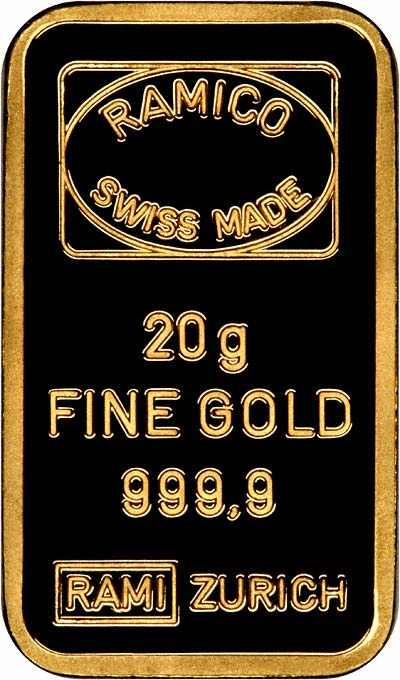 Obverse of 20g Gold Bar
