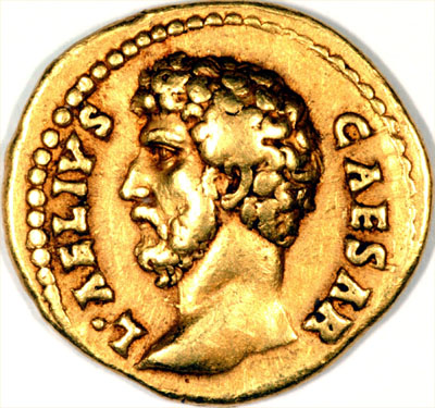 Our Roman Gold Aureus of Aelius Obverse Photo