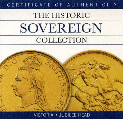 Royal Mint Historic Sovereign Collection Certificate