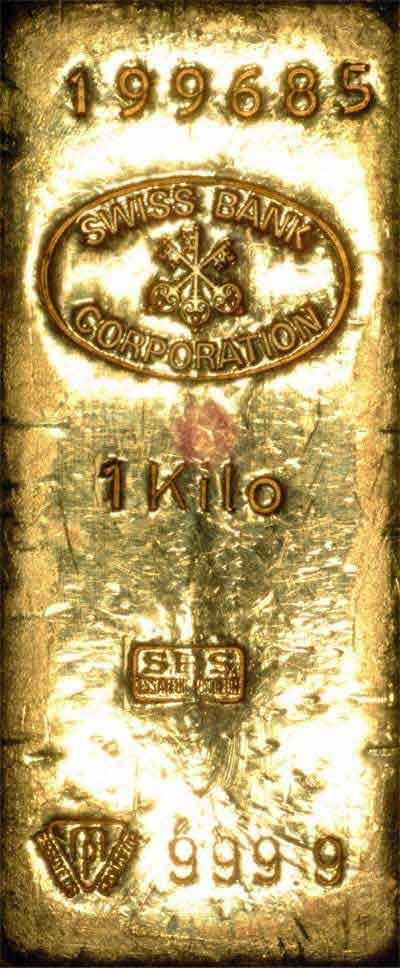 Sbc Swiss Bank Corporation Gold Bars