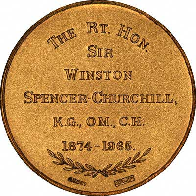 Reverse of 1965 Churchill Gold Medal by John Taylor