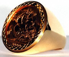 Plain Polished Sovereign Ring Mount