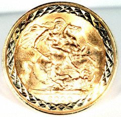 Half Sovereign Ring - Top View