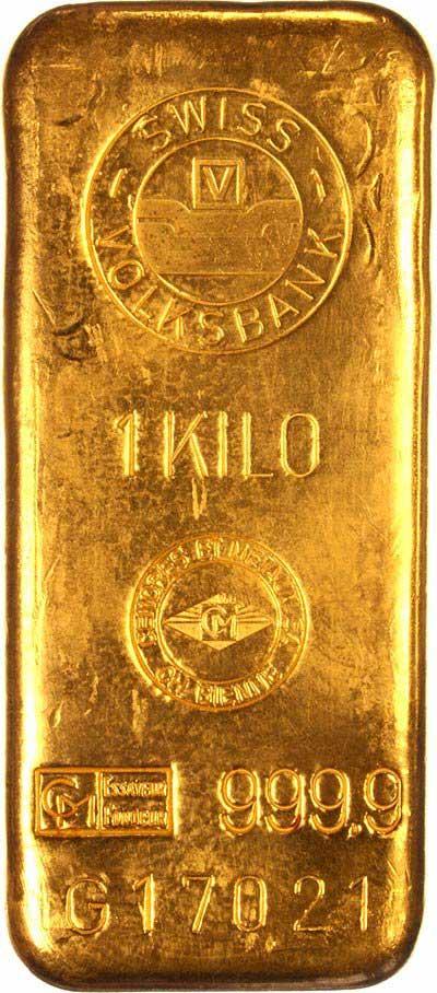 Swiss Volksbank One Kilogramme Gold Bar