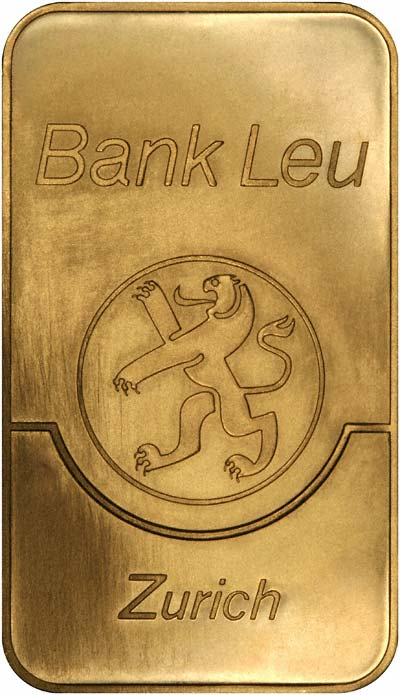 Bank Leu 50 Gram Gold Bar