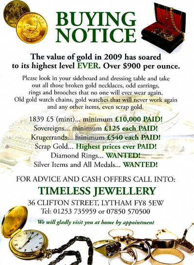 Buying Notice - Timeless Jewellery