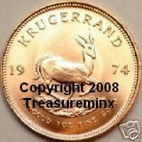 Modified 1974 Krugerrand Image As Used by Treasureminx