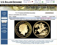 US Bullion Exchange Sovereigns Page